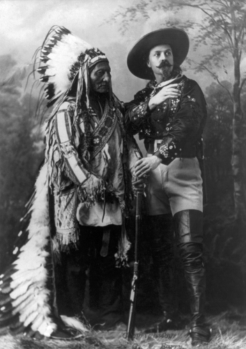 Chief Sitting Bull with Buffalo Bill