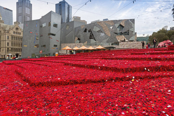 5000 Poppies Project Fed Square April 2015, Photographer Patrick Redmond