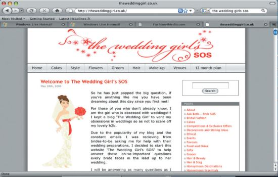 The wedding Girl's sos