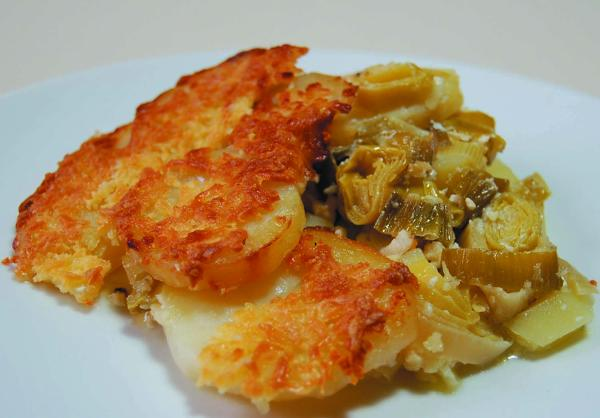 Leek, Potato & Caerphilly Bake Recipe