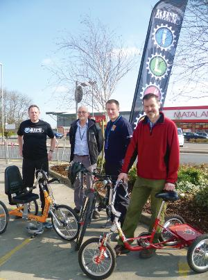 Andy Gallkeld, Mark Korczak, Simon Tomas of Cycle Magic and Andy Cryer of CTC.