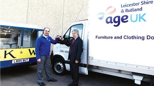 Kirby & West kick-off 2012 charity work with a further donation to Age UK