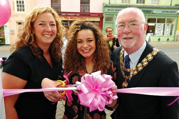 Louise (left) with Echo Elliott (competition winner) and The Mayor of Lutterworth, Councillor Tony Hirons.