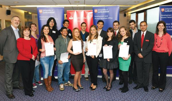 International students received postgraduate funding from Santander