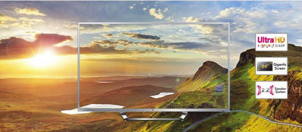 LG makes the first 84-inch Ultra High Definition TV available to buy on the British high street
