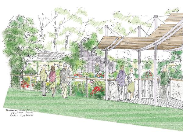East village - London's newest neighbhourhood – exhibits show garden at the RHS Chelsea Flower Show