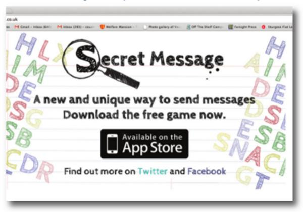 Brand New Secret Messages app Created by Leicester Builder - David Weafer