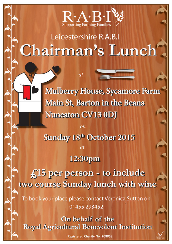 Leicestershire R.A.B.I Chairman's Lunch
