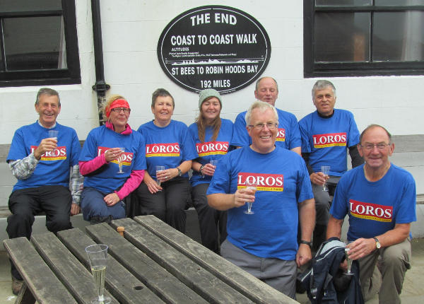 Cross-country treks for LOROS - Hadrian's Wall Walk and Wainwright's Coast to Coast Walk