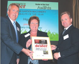 Higgott wins garden machinery dealer of the year