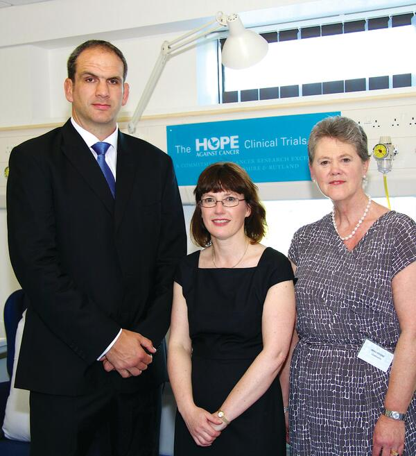 Martin Johnson Opens The New Hope Against Cancer Clinical