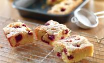White Chocolate and Raspberry Brownies (Blondies)
