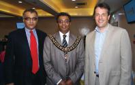 Prakash Panchal The Lord Mayor and David Eveson