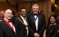 Councillor John Thomas (High Bailiff of Leicester) Councillor Abdul Osman (Lord Mayor of Leicester) Rick Moore (President of Leicester & Leicestershire Chamber of Commerce) Manjula Sood (Head of Leicester Council of Faiths)