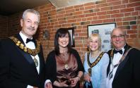 Cllr Michael Specht, Dawn Mitchell- Consort to Jill Blackwell, Jill Blackwell- Ch' Blaby DC & John Illingworth Mayor Bor' Melton