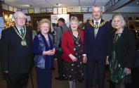 Jennifer Lady Gretton with local dignitaries
