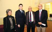 Freda Hussain, Bobby Adelson ( Ass Cultural attache Embassy of USA), Assaf Hussain and Nick Quinn