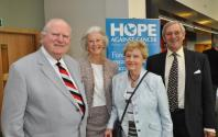 Bob Muddimer, Libbie Turnbull, Rita Muddimer and Michael Turnbull Hope Against Cancer Chairman