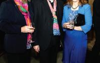 Liz Hudson, David Monteith, Dean of Leicester, and Sally Bowie