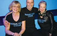 Bikram Choir Lucy Carter, Petros Tsinontas and Katherine Pledger