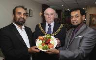 Staff with Lord Mayor