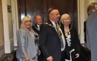 Cllr Lynda Eaton and Deputy Mayor of Oadby and Wigston Cllr Robert Eaton, Mayor of Charnwood Cllr John Capleton and Mayoress Meg Jenkinson