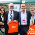 Bijna Dasani, Steve White, Paul Nixon and Roger Willmott Leader of Leicester City Council