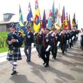 Standard Bearers marching to dedication point