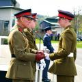 Cadet Andrew Hardman receives the Prince Philip Medal from HRH The Duke off Edinburgh