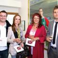 Tim Olford, Sophie Gray, Jane Porter and Calum Weston from Aviva Insurance
