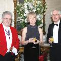 Mike Jacobs - Toastmaster, Debbie Burke- Council Member and Herbert Thurston - Leicester Medical Society
