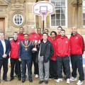 Lord Mayor Abdul Osmin with Leicester Riders at The Town Hall