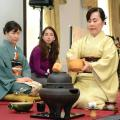 Guest Ozge Rosato joins the tea-master on stage for the traditional Japanese Tea Ceremony
