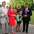 Andrew and Louisa Storer with Claudia Burdett and Alastair Hamilton