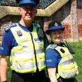 PCSO Geoff Harrod and PCSO Rachael Wragg