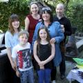 Emma & Mike Willis, Collette,Grace, Nancy and Archie Sculey