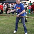Organiser Andy Williamson starting a tug of war