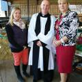 Milly Wastie, Rev.Peter Hooper and Cllr Rosita Page (chairman of Council)