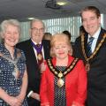Mayor of Melton-Cllr Marilyn Gordon, Deputy Mayor of Charnwood, Cllr Paul Day