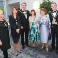 Cllr Geraldine Robinson- Chair Harbor' DC, Kerry Holt- consort, Cllr Alan Tanner-chair Blaby DC, Consort Mrs Gillian Tanner, Cllr Linda Broadley Mayoress Oadby & Wigston, Cllr Frank Broadley- Mayor Oadby & Wigston,