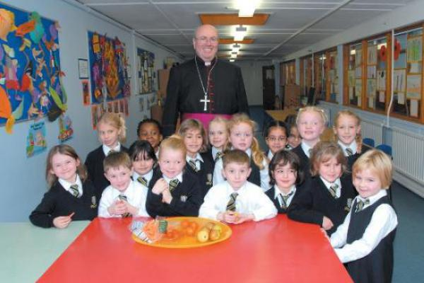 Bishop Malcolm McMahon visits Our Lady's convent