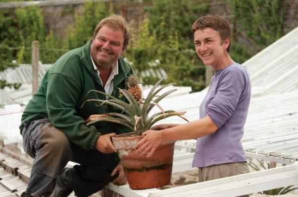 Nicola Bradley and Clive Mildenhall at Heligan