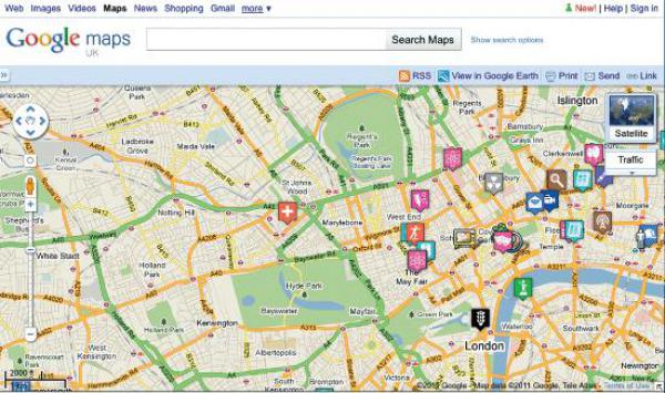 London's inventions Google mapped