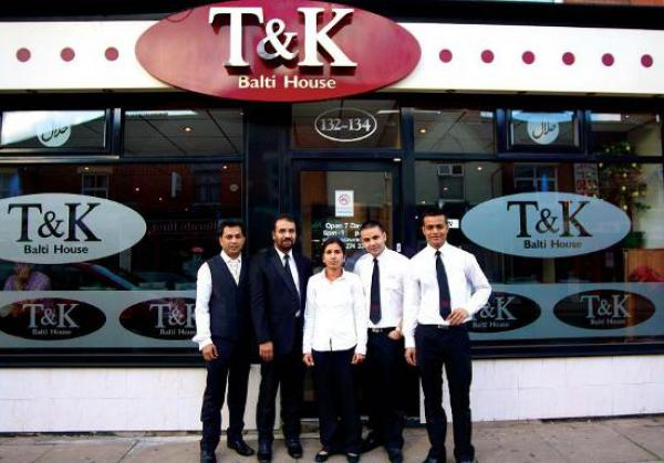 18th anniversary T&K Balti House restaurant
