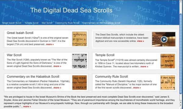Dead Sea Scrolls Go Digital
