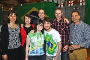 Jamie's Match Ball Held at Croft Farm Newton Harcourt attended by friends & family in aid of Hope against Cancer