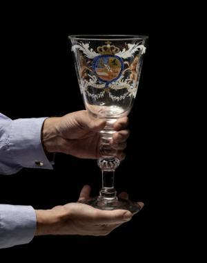 Prince William V Of Orange Glass Goblet
