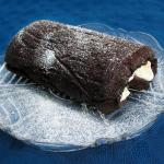 Gooey chocolate and brandy roulade