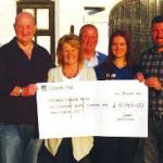 Jamie's Match of the Day in aid of Teenage Cancer Trust, Cheque Presentation