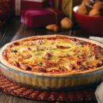 Christmas Squash, Turkey & Stilton Quiche